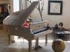 Ecopianofono. Struttura in legno riciclato e rivestimento in cartone riciclato