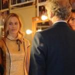 Melanie Moir in abito Michele Miglionico con il regista Marco Risi