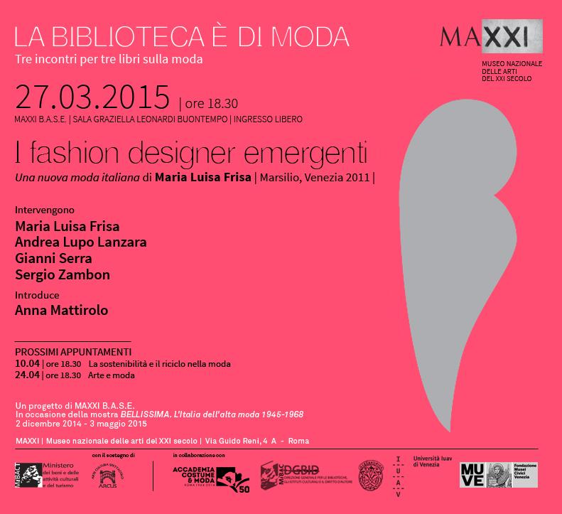 La biblioteca e di moda giovani stilisti for Biblioteca maxxi